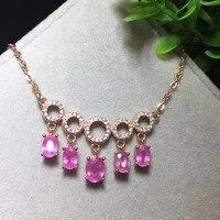 2017 anillos QI xuan_pink Камень Элегантный ключицы chain_rose золото Цвет розовый камень ключицы chain_manufacturer непосредственно продаж