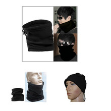 Unisex Multifunctional Sport Casual Solid Comfort Scarf Men Headwear Face Mask Cap Outdoor Polar Fleece Neckerchief Adjustable