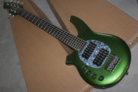 Free Shipping New Top Quality Musical Instrument Left Handed 6 String Music Man Green Electric Bass