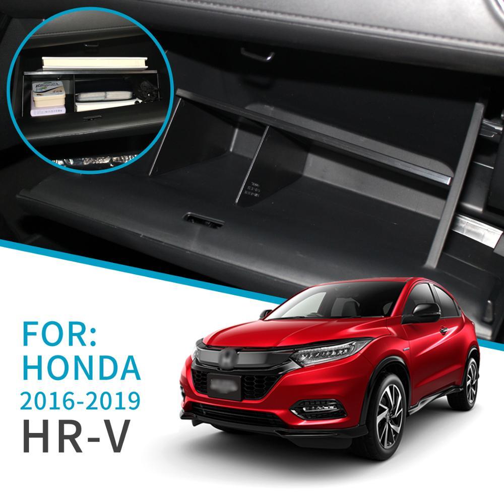 Smabee Car Glove Box Interval Storage For HONDA HR-V 2016 2017 2018 2019 HRV Interior Accessories Console Tidying Storage Box