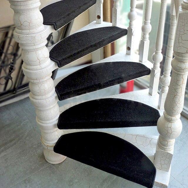 Yazi Anti Slip Stairs Carpet Self Adhesive Black Brushed Plush Rug Living  Room Soft