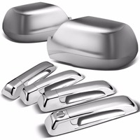 Chromium Styling Chrome Door Handle Cover and Mirror Cover Set For 05 10 Jeep Grand Cherokee 4 Door