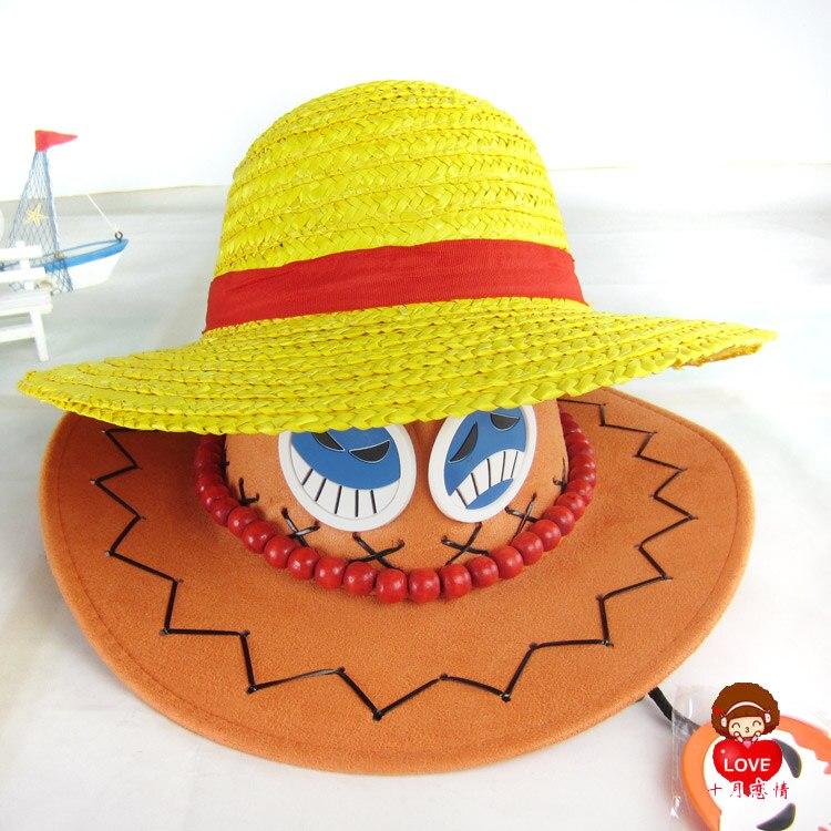 Nice Cosplay Straw Boater Beach HatOne Piece Luffy Anime Cap Halloween