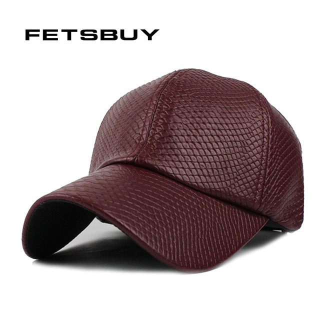 FETSBUY HOT PU Leather Baseball Cap Biker Trucker snapback Hats For Men  women Casquette Hiphop hats and Fitted caps wholesale 06b7e341ca06