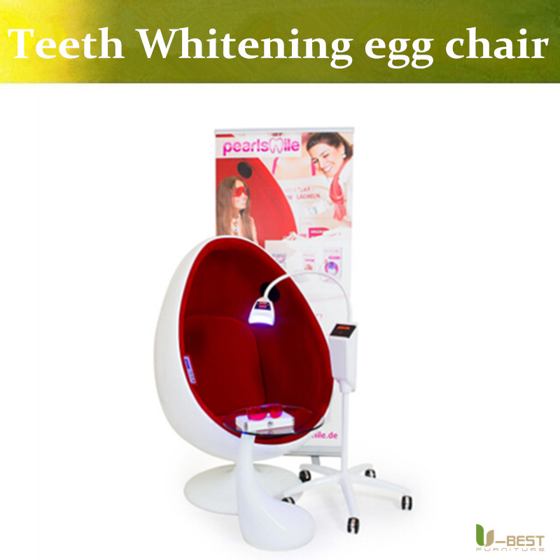 все цены на U-BEST Living Room  Egg Pod Chair for Beauty Teeth Whitening Designed by Eero Aarnio with Red Velvet and White Fiberglass Shell онлайн