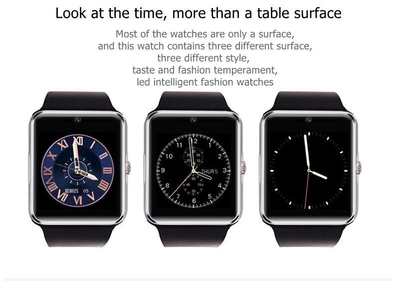 Original Smart Watch GT08 Clock Sim Card Push Message Bluetooth Connectivity For Android IOS apple Phone PK Q18 DZ09 Smartwatch (6)