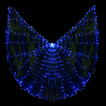 LED ISIS Wings For Oriental Dance Belly Dance Accessories Stage Performance Props Shining Led Wings Open 360 Degrees