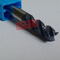 1pc 20mm Hrc45 D20 45 D20 100 4Flutes Roughing End Mills Spiral Bit Milling Tools Carbide