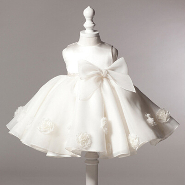 05745e01ace85 US $10.98 |Formal baby girl baptism dress vintage 1 year baby christening  dresses rose big bow party dress kids christmas children clothes-in Dresses  ...
