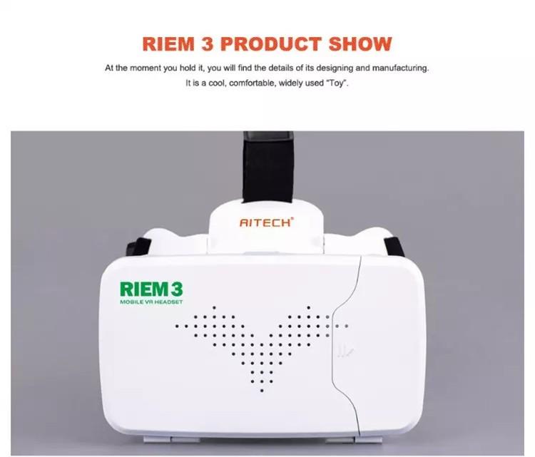 New Ritech III 3D VR Glasses RIEM3 Virtual Reality Head Mount Google Cardboard Oculus Rift DK2 Box for 4.7 ~ 6.0 Inch SmartPhone (14)