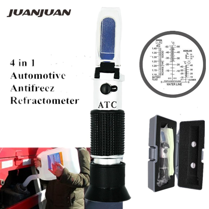 Retail Box Optical 4-in-1 Freezing Concentration Refractometer Of Urea With ATC For Car Manufacturers Large Fleet 48% Off
