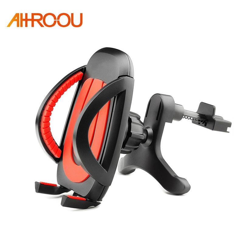 AHHROOU universal car air vent mobile phone holder CD slot mount holder stand for smartphone Iphone 5 5s 5c SE 6 6 plus 7 Galaxy