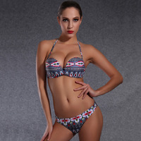 High Quality Newest Sexy Swimwear Female Bikini Top Bottom Vintage Women Swimsuit Push Up Underwired Bathing