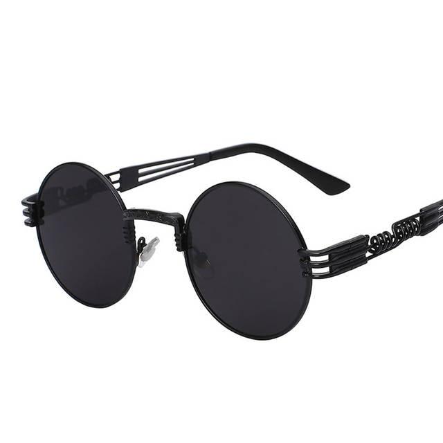 dae0eb383 placeholder Gothic Steampunk Sunglasses Men Women Metal Wrap Eyeglasses  Round Shades Brand Designer Sun glasses Mirror UV400
