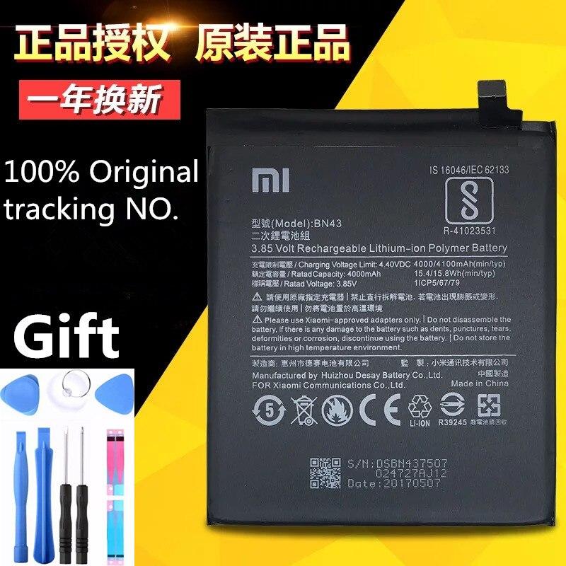 100% D'origine Xiaomi batterie bn43 BN43 Xiaomi Redmi Note 4X 4X4000/4100 mAh BN43 Batterie Xiaomi Redrice Redmi Note 4X batterie