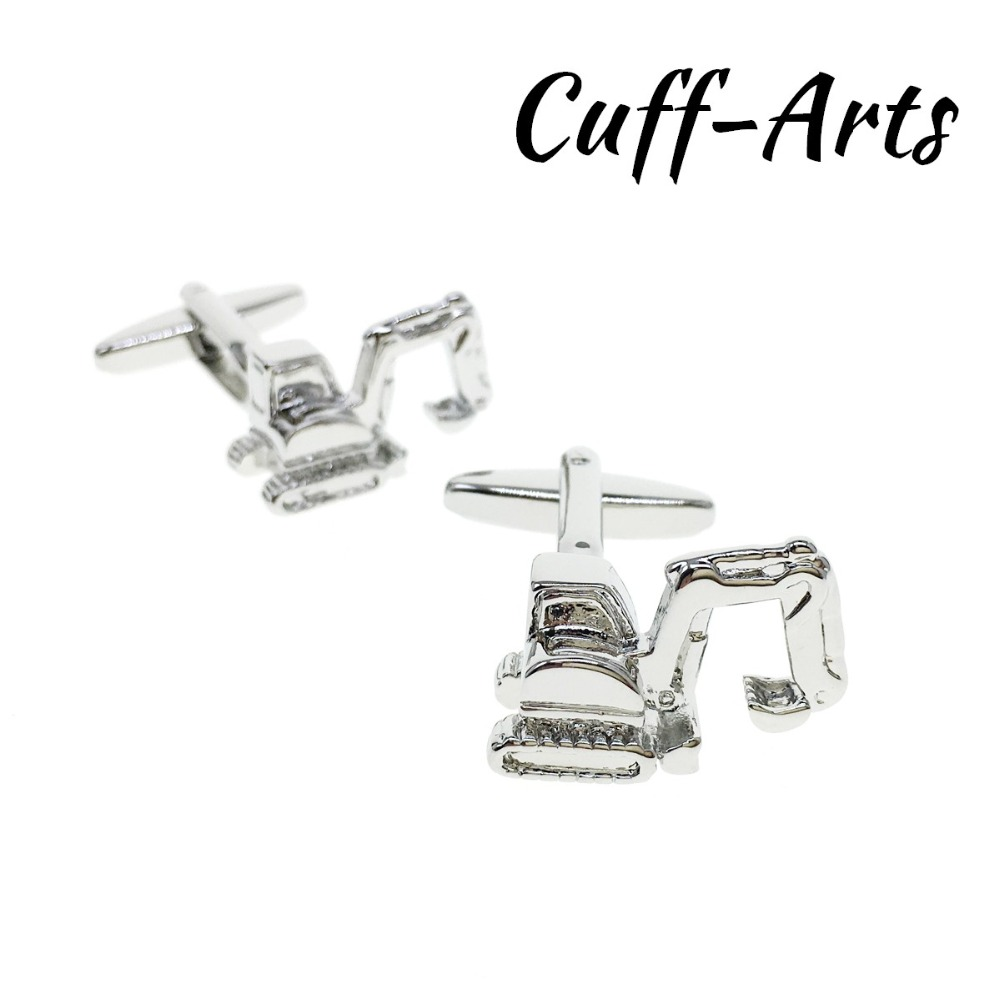 Cufflinks For Men Excavator Digger Cufflinks Mens Cuff Jewelry Mens Gifts Vintage Cufflinks Gemelos  By Cuffarts C10361