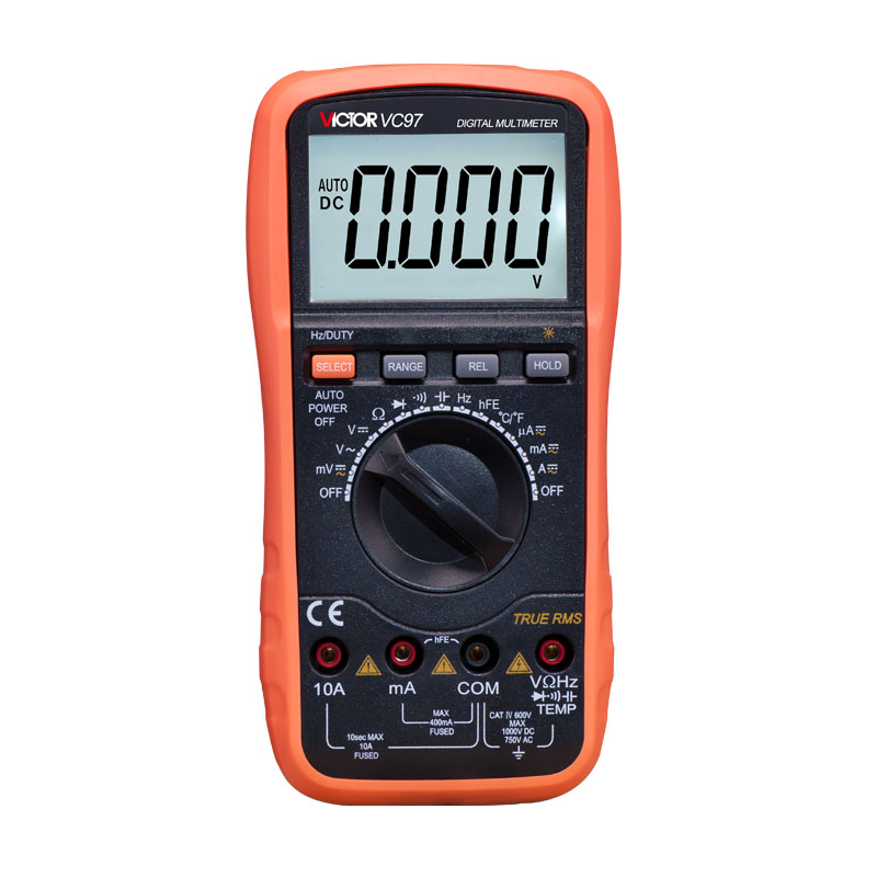 Professional True RMS Auto Range 4000 Counts Resistance Capacitance Frequency Temperature Victor Digital Multimeter VC97 mastech ms8260f 4000 counts auto range megohmmeter dmm frequency capacitor w ncv