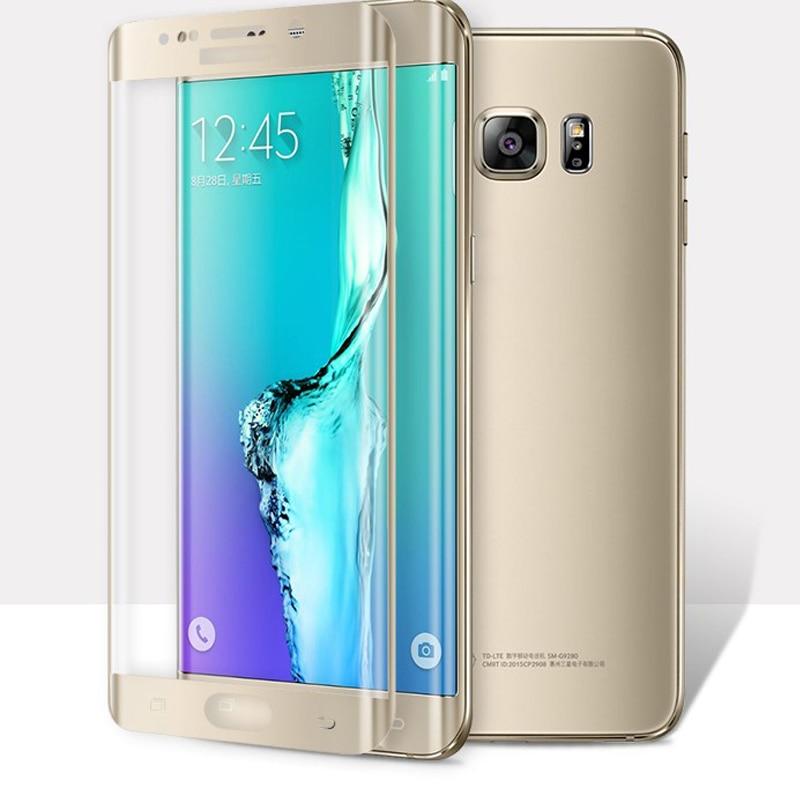 Gold 3D <font><b>Curved</b></font> Full Coverage <font><b>Screen</b></font> <font><b>Protector</b></font> <font><b>Silk</b></font> <font><b>Printed</b></font> <font><b>Tempered</b></font> <font><b>Glass</b></font> For Samsung Galaxy S7 Edge With Free Safety Packing