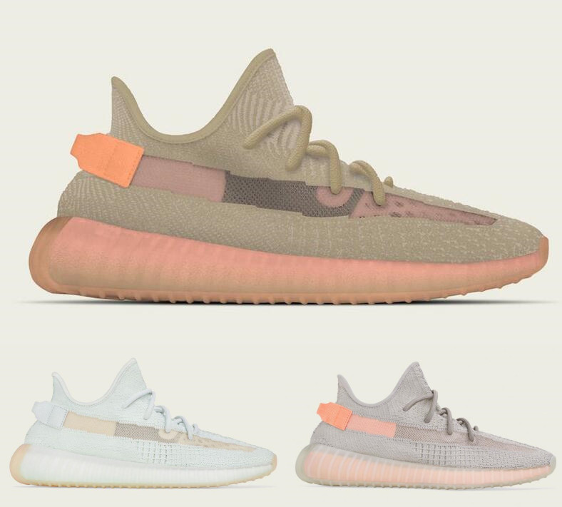 3e52301fe20f8a 2019 Originals 350 V2 Clay Hyperspace True Form Kanye West Men Women  Running Shoes Authentic Sports