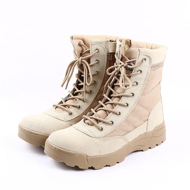 Invierno de Los Hombres de Camuflaje Del Desierto Botas Militares Botas de Combate Del Ejército Táctico Militar Botas Hombre Al Aire Libre Sapatos Masculino