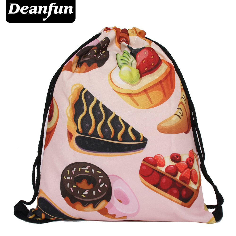 Deanfun new 2016 escolar backpack 3D printing travel softback man women mochila feminina drawstring bag backpack space ice cream polygon wolf 3d printing fashion women party bolsa feminina drawstring bag travel backpack mochila man s bags