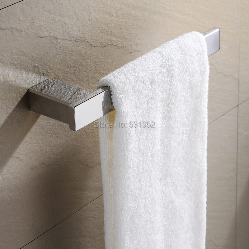Square Towel Hook Wall Mount Towel Rail Bar Stainless Steel Towel Rack Holder Polished Towel Ring For Kitchen Bathroom