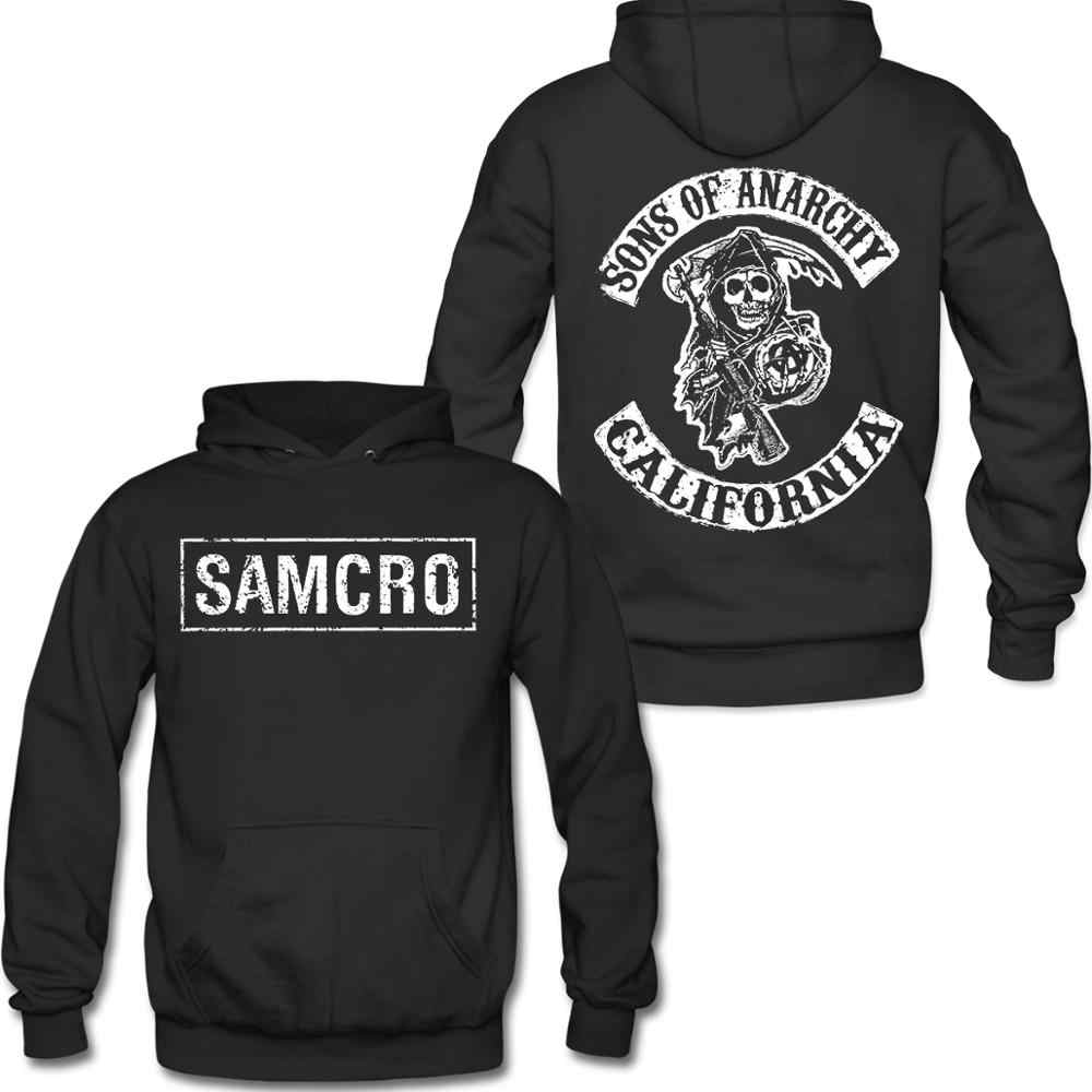 Sons of Anarchy SAMCRO Double sided Pull-Over Felpa Con Cappuccio