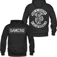 Sons of Anarchy SAMCRO Double sided Pull Over Hoodie Sweatshirt