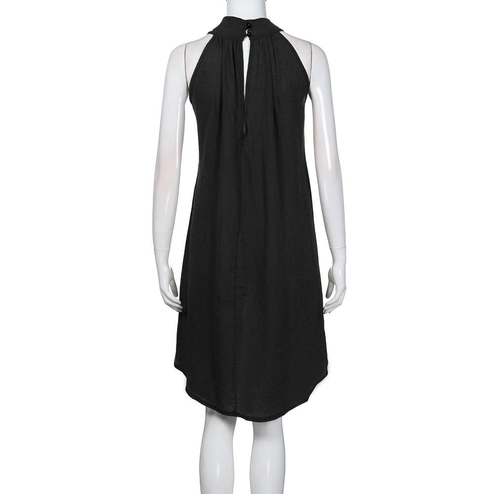 HTB1RpukayYrK1Rjy0Fdq6ACvVXa8 Womens Holiday Irregular Dress Ladies Summer Beach Sleeveless Party Dress vestidos verano 2018 New Arrival dresses for women