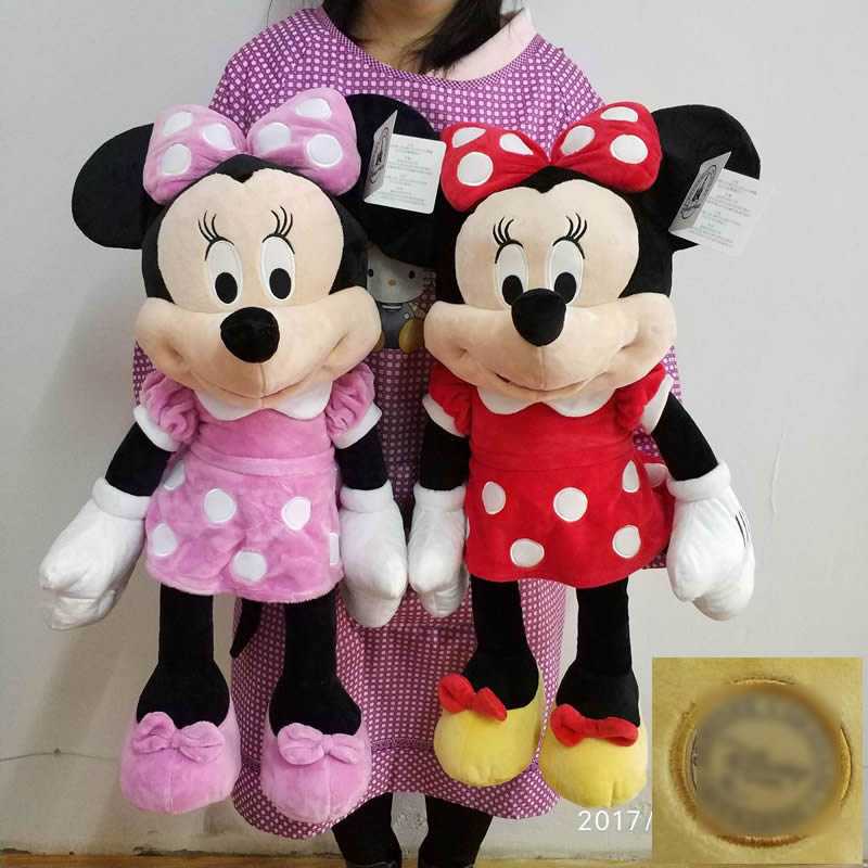 Free Shipping 1pcs 65cm Original Mickey Mouse And Minnie Mouse Stuffed Animal Plush Toys Soft Doll For Kids&Girl gift 1 piece 35cm 13 7 mickey mouse plush toys doll for kids gifts