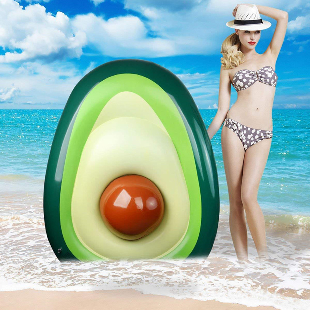 160x125cm giant avocado inflatable swimming ring summer party swimming pool adult children floating toy mattress