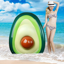 160x125cm giant avocado inflatable swimming ring summer party pool adult children floating toy mattress