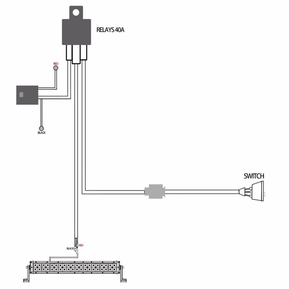 universal 12v 40a car fog light wiring harness kit loom for hid workuniversal 12v 40a car [ 1000 x 1000 Pixel ]