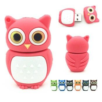 Hot Sale Cute Owl USB 2.0 Flash Drives External Storage Pendrive 64GB 32GB 16GB 8GB 4GB Cartoon Usb Flash Disk best Gift