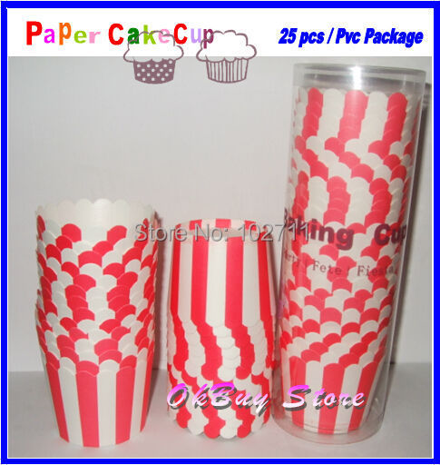 Red White Striped Polka Dot Star Baking Cup, Candy Cups cupcakes cases muffin cupcake paper cups birthday party decorations kids
