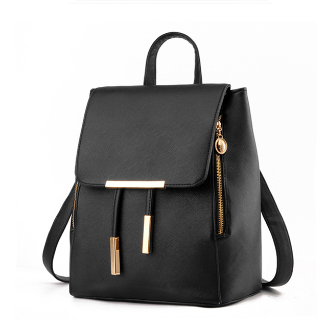 Korean College Wind Leisure Backpack Fashion Ladies PU Leather Bags Travel  Schoolbag Drawstring Backpacks High Quality 84175f3505dc0