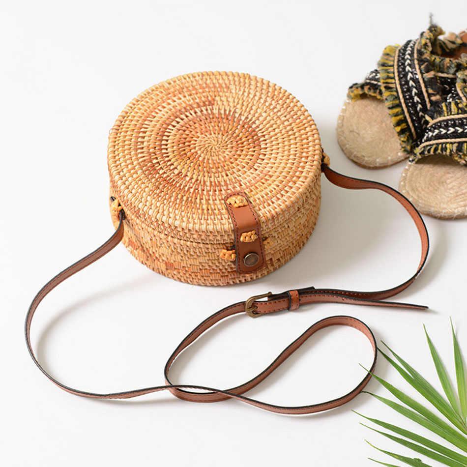 2019 женские тканые круглые сумки из ротанга, соломенная сумка INS, БАЛИЙСКАЯ пляжная круглая сумка, круговая сумка, сумки на плечо и сумки-мессенджеры