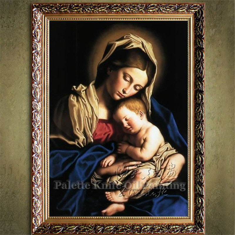 home decor jesus christ virgin mary holding the jesus art home decor jesus christ christ virgin mary