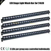 4 Unit Led Overstroming Licht Bar Stage Licht Wassen Bar Elke 3 W 24 Leds Lamp Eye 24/3 Via 3 led Individuele Controleerbaar Segmenten Rgb Blend