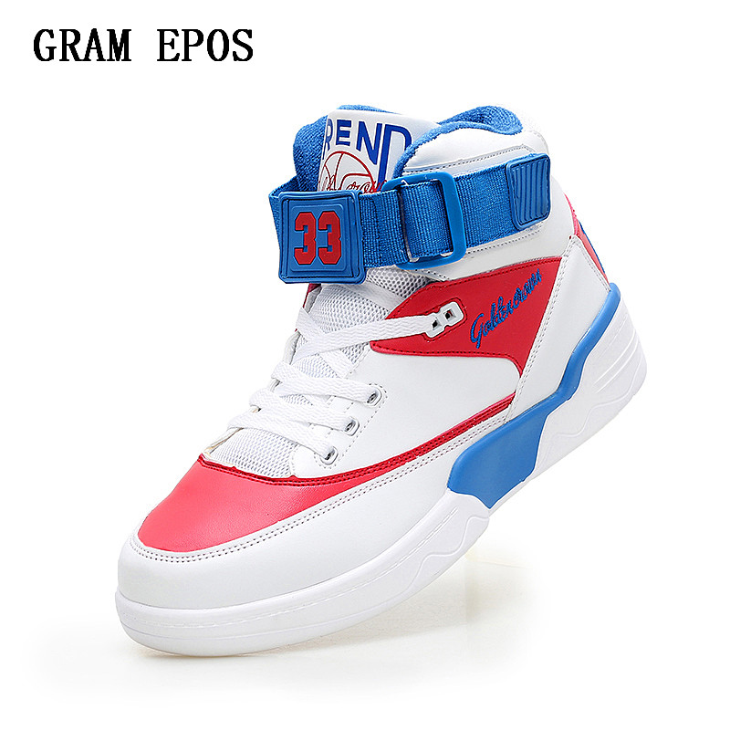 GRAM EPOS Taille 38-46 Chaussures Hommes Sneakers Justin Bieber Hommes Bottes Super Star du Hip Hop Chaussures Hommes Haute top Chaussures Hommes Casual Chaussures