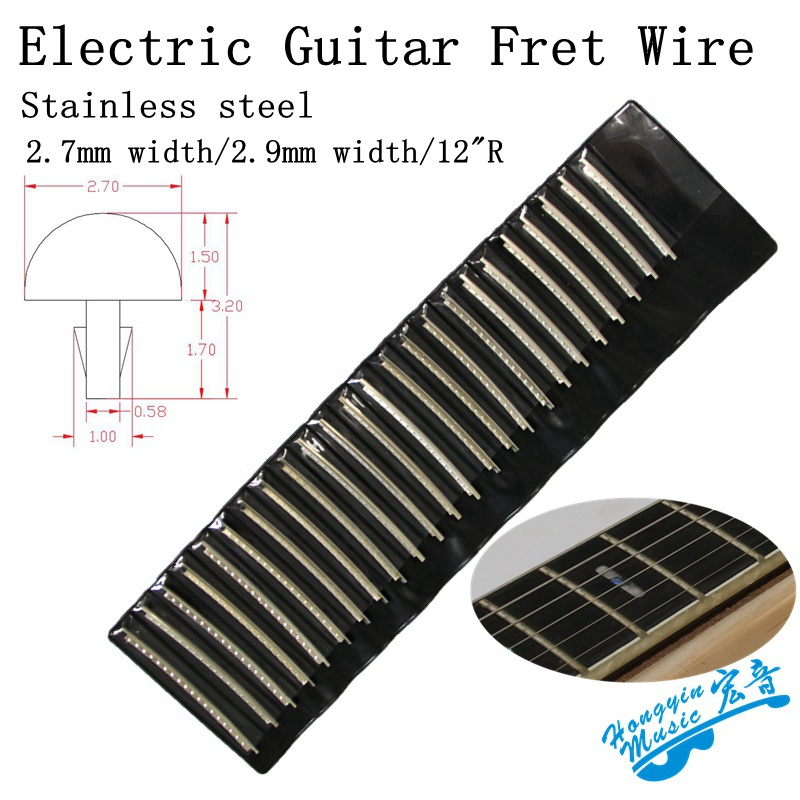 24pcs fingerboard frets fret wire for electric guitar brass cupronickel stainless steel. Black Bedroom Furniture Sets. Home Design Ideas