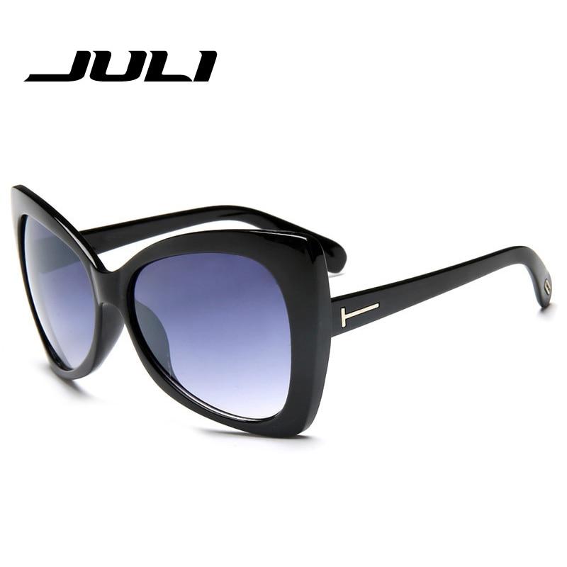 JULI új divat macska szem napszemüveg nők nagy méretű - Ruházati kiegészítők