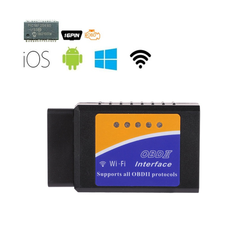 V03HW <font><b>V1.5</b></font> <font><b>Bluetooth</b></font>/WIFI with PIC18F25K80 Chip For Android IOS Diagnostic Tool <font><b>ELM327</b></font> <font><b>Bluetooth</b></font> <font><b>v1.5</b></font> <font><b>OBD2</b></font> Scanner image