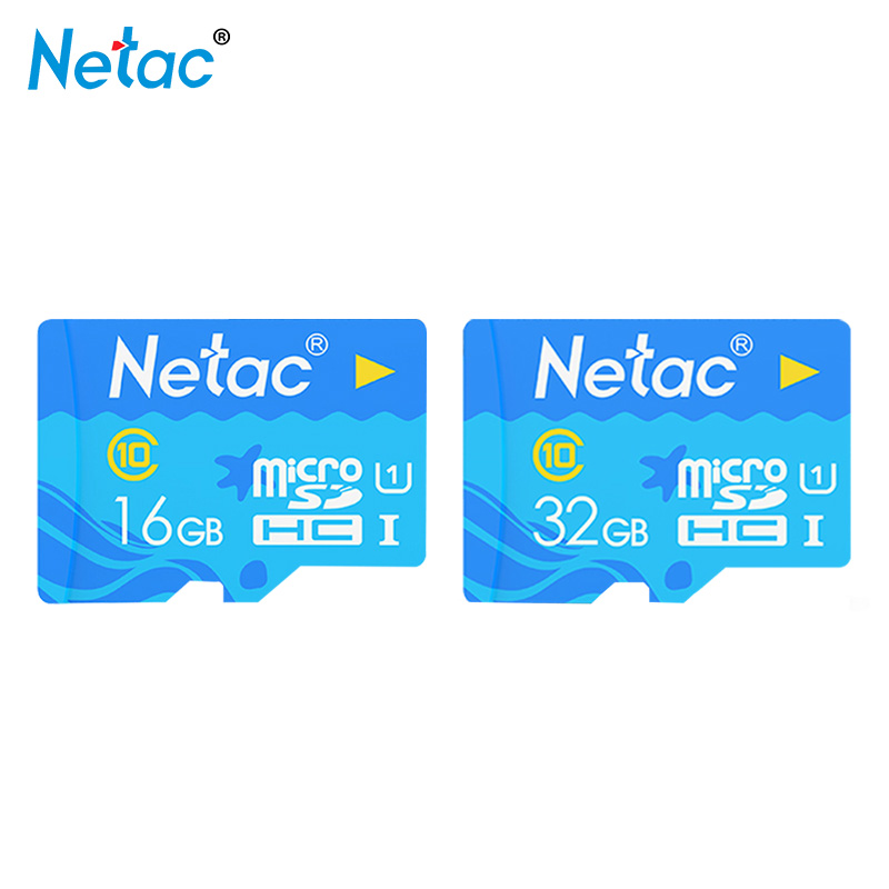 Netac Micro SD Card 32GB 16GB 80mb/s TF Card Usb Flash Memory Card Microsd 16gb 32gb Class10 Original Product Free Shipping original doit tank robot car chassis kit caterpillar diy robot electronic toy remote control tracked smart car development kit
