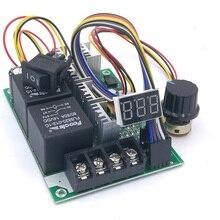 ШИМ регулятор скорости двигателя постоянного тока цифровой дисплей 0~ Регулируемый Привод модуль вход MAX60A 12 В 24 В