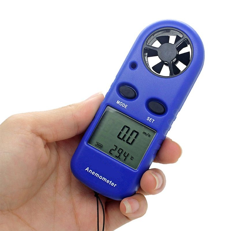 30m/s Wind Speed Meter Portable Digital Anemometer Beaufort Scale Air Velocity Measure Tools -10~45C Thermometer LCD Backlit