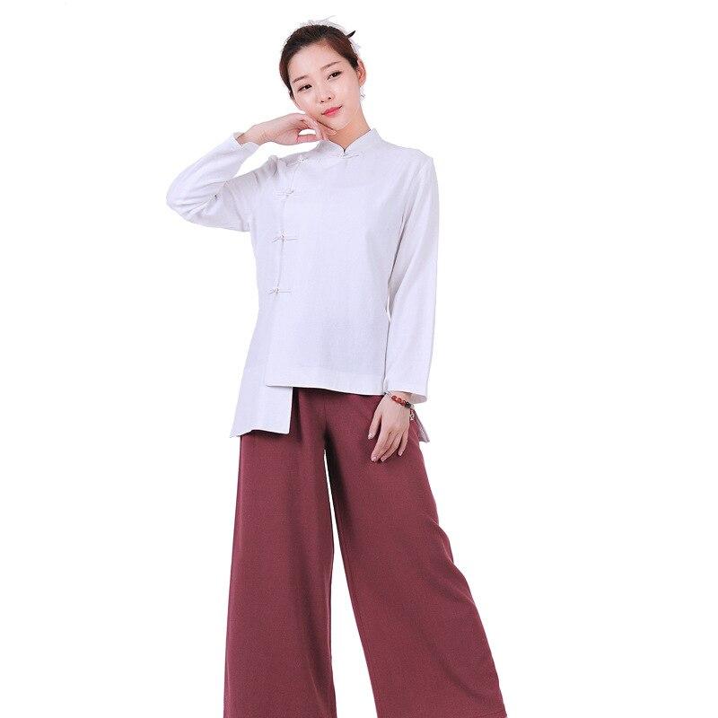 Unisex Zen Buddhist Robe Lay Monk Meditation Gown Monk Training Uniform Suit Ung Fu Cassock Clothes Abbot Bonze Costumes