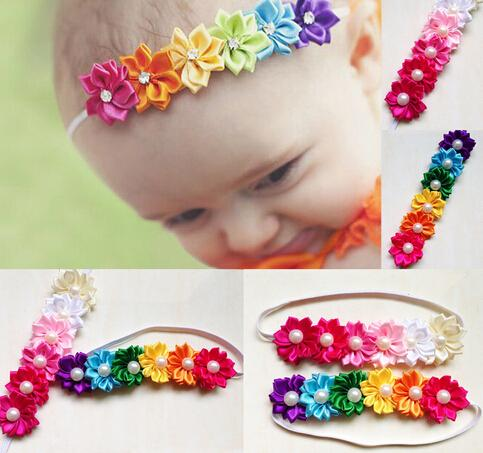Headband Hair-Accessories Flower Girl's Children FD165 Six Candy-Color Hot-Sale Baby