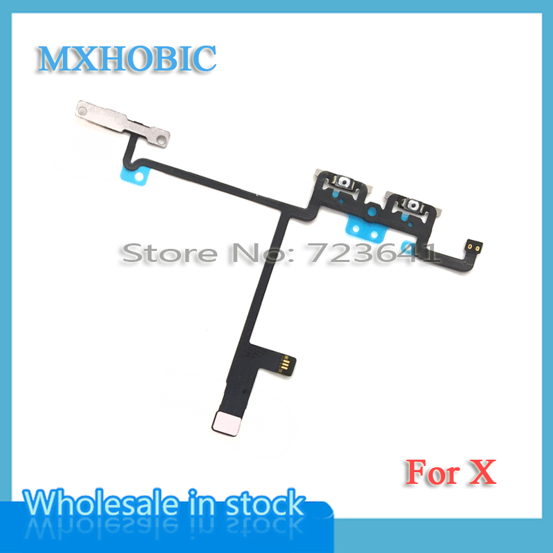 Volume-Button iPhone X Switch-Control Ribbon-Replacement-Parts Flex-Cable for Xs-Max