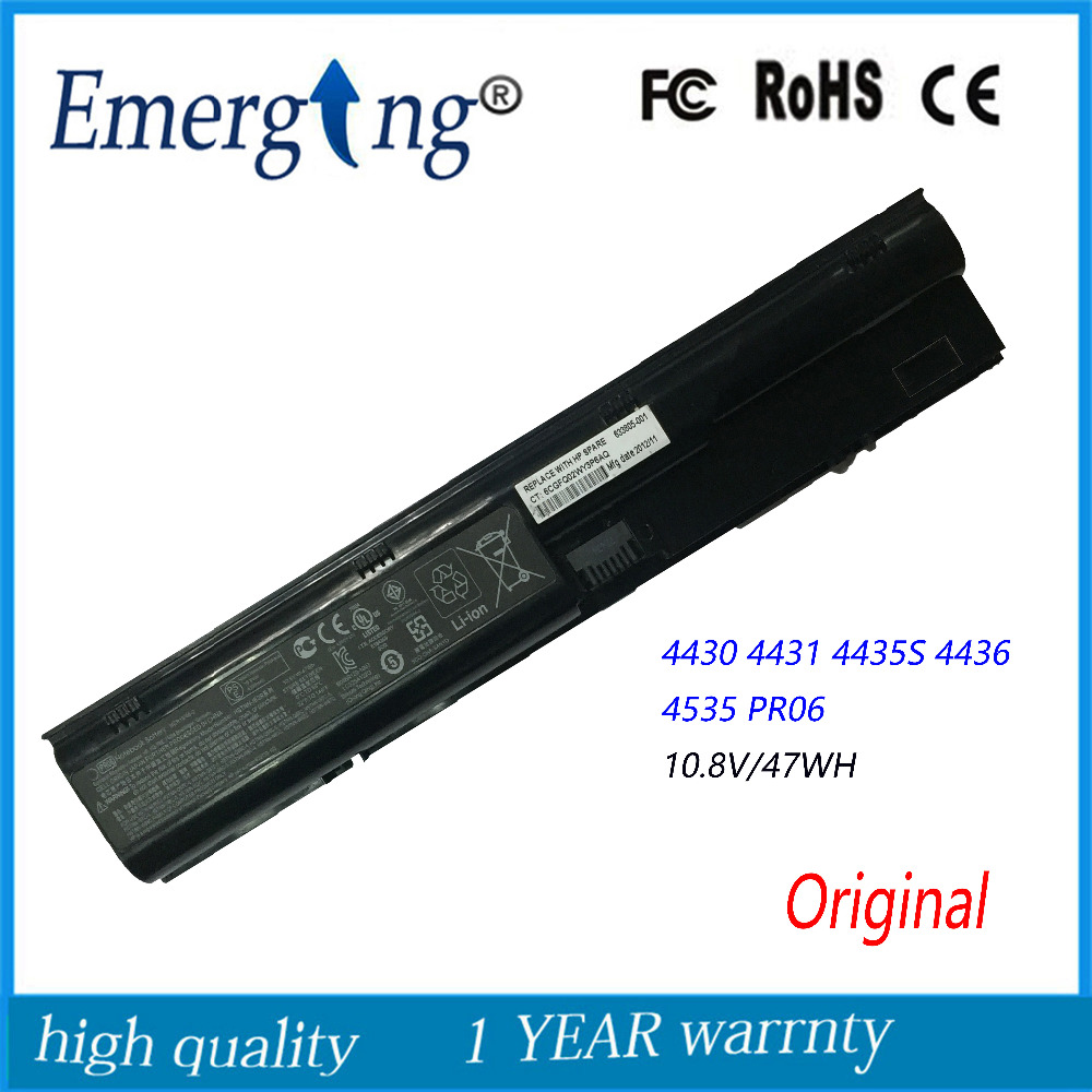 10.8V 47Wh New Original Laptop Battery for HP 4330S 4331S 4431S 4730S 4436S PR06 4540S 4545S 4530S 633805-001 PR06 HSTNN-LB2R 11 3v 47wh new original laptop battery for lenovo 45n1754 45n1755 45n1756 45n1757 e450 e455 e450c series